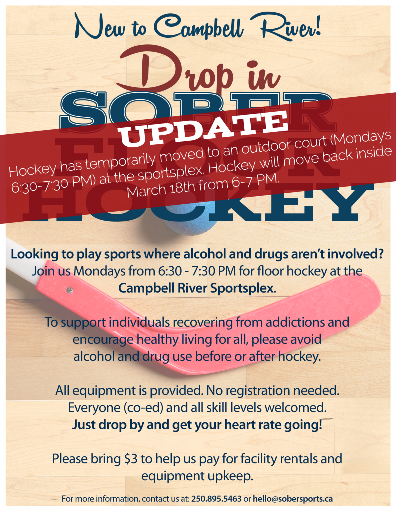 Campbell River Sober Floor Hockey (Updated)